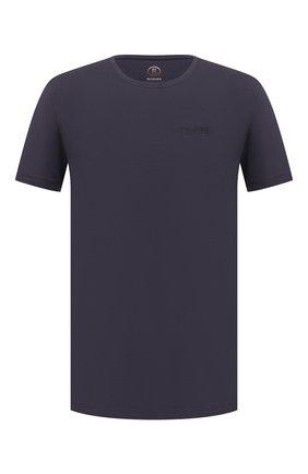 Мужская хлопковая футболка BOGNER темно-синего цвета, арт. 58546604 | Фото 1 (Материал внешний: Хлопок; Рукава: Короткие; Принт: Без принта; Стили: Кэжуэл; Длина (для топов): Стандартные)
