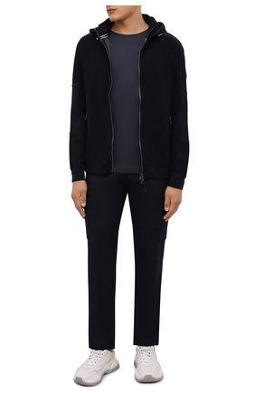 Мужская хлопковая футболка BOGNER темно-синего цвета, арт. 58546604 | Фото 2 (Материал внешний: Хлопок; Рукава: Короткие; Принт: Без принта; Стили: Кэжуэл; Длина (для топов): Стандартные)