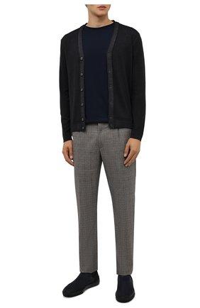 Мужская хлопковая футболка DRIES VAN NOTEN темно-синего цвета, арт. 212-021194-3600 | Фото 2 (Материал внешний: Хлопок; Рукава: Короткие; Принт: Без принта; Стили: Кэжуэл; Длина (для топов): Стандартные)