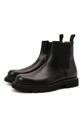 Мужские кожаные челси W.GIBBS черного цвета, арт. 2999010/2527 | Фото 1 (Подошва: Плоская; Материал внутренний: Натуральная кожа; Мужское Кросс-КТ: Сапоги-обувь, Челси-обувь)