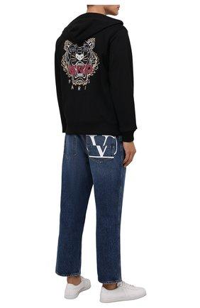 Мужской хлопковая толстовка KENZO черного цвета, арт. FB65BL7254XA | Фото 2 (Длина (для топов): Стандартные; Рукава: Длинные; Материал внешний: Хлопок; Мужское Кросс-КТ: Толстовка-одежда; Стили: Спорт-шик)