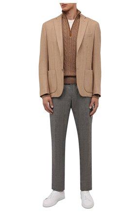 Мужской кашемировый свитер LORO PIANA коричневого цвета, арт. FAD7358 | Фото 2 (Материал внешний: Кашемир, Шерсть; Мужское Кросс-КТ: Свитер-одежда; Рукава: Длинные; Принт: Без принта; Стили: Кэжуэл; Длина (для топов): Стандартные)