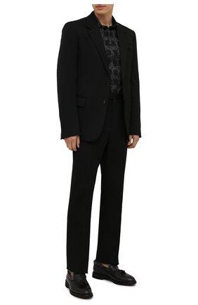 Мужские кожаные лоферы DOUCAL'S черного цвета, арт. DU2753VER0UM065NN00 | Фото 2 (Материал утеплителя: Натуральный мех; Стили: Кэжуэл)