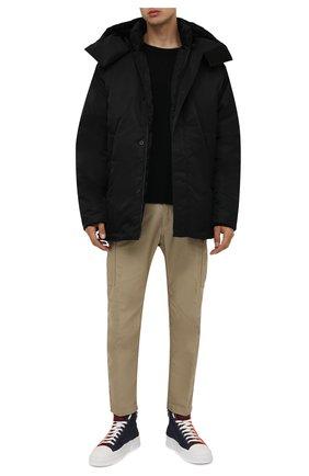 Мужские текстильные кеды portofino light DOLCE & GABBANA оранжевого цвета, арт. CS1889/A0768 | Фото 2 (Подошва: Плоская; Материал внутренний: Натуральная кожа; Материал внешний: Текстиль)