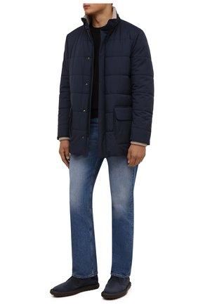 Мужские замшевые ботинки TOD'S темно-синего цвета, арт. XXM06G0ES50RE0 | Фото 2 (Материал внутренний: Натуральная кожа; Материал внешний: Замша; Мужское Кросс-КТ: Ботинки-обувь; Подошва: Плоская)