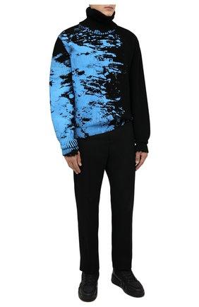 Мужские комбинированные кеды talon GIUSEPPE ZANOTTI DESIGN черного цвета, арт. RU10061/001 | Фото 2 (Материал внутренний: Натуральная кожа, Текстиль; Материал внешний: Текстиль; Подошва: Массивная)