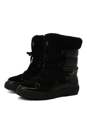Мужские утепленные сапоги BOGNER черного цвета, арт. 12142293/ANCH0RAGE TSUM | Фото 1 (Подошва: Массивная; Материал утеплителя: Натуральный мех; Мужское Кросс-КТ: Сапоги-обувь)