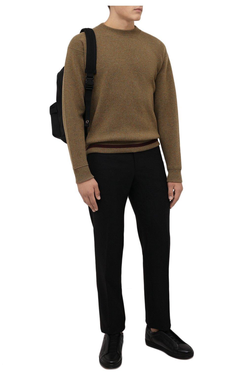 Мужские кожаные кеды DOUCAL'S черного цвета, арт. DU2511GENTUM019NN00   Фото 2 (Материал утеплителя: Натуральный мех; Подошва: Массивная)