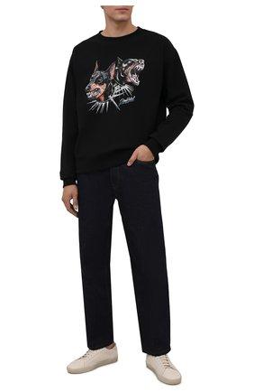 Мужской хлопковый свитшот DOMREBEL черного цвета, арт. MPUPS/SWEATSHIRT | Фото 2 (Рукава: Длинные; Материал внешний: Хлопок; Длина (для топов): Стандартные; Мужское Кросс-КТ: свитшот-одежда; Принт: С принтом; Стили: Гранж)