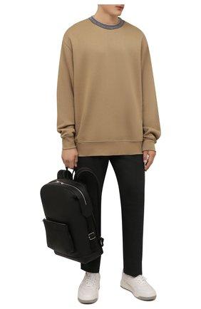 Мужские шерстяные брюки ACNE STUDIOS темно-серого цвета, арт. BK0413   Фото 2 (Материал внешний: Шерсть; Длина (брюки, джинсы): Стандартные; Случай: Повседневный; Стили: Кэжуэл)