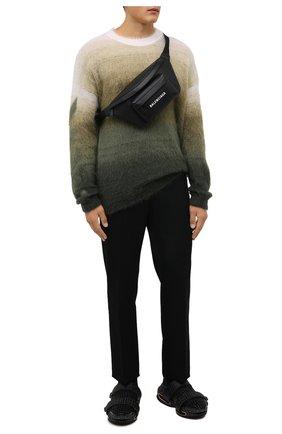 Мужские текстильные кроссовки b-bold BALMAIN черного цвета, арт. WM1VH229/TKMD   Фото 2 (Подошва: Массивная; Материал внутренний: Натуральная кожа; Материал внешний: Текстиль; Стили: Гранж)