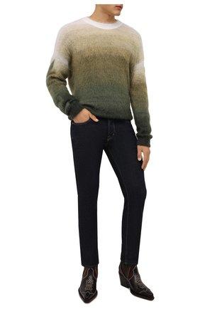 Мужские кожаные казаки cillian DSQUARED2 темно-коричневого цвета, арт. ABM0067 01503444 | Фото 2 (Каблук высота: Высокий; Материал внутренний: Натуральная кожа; Подошва: Плоская; Мужское Кросс-КТ: Сапоги-обувь, Казаки-обувь)
