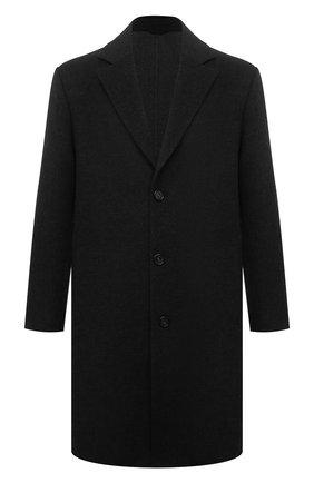 Мужской кашемировое пальто LORO PIANA темно-серого цвета, арт. FAL9298 | Фото 1 (Рукава: Длинные; Длина (верхняя одежда): До колена; Материал внешний: Кашемир, Шерсть; Мужское Кросс-КТ: пальто-верхняя одежда; Стили: Классический)