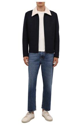 Мужская шерстяная куртка HARRIS WHARF LONDON темно-синего цвета, арт. C9341MLK-W | Фото 2 (Материал внешний: Шерсть; Рукава: Длинные; Длина (верхняя одежда): Короткие; Кросс-КТ: Куртка; Мужское Кросс-КТ: шерсть и кашемир; Стили: Кэжуэл)
