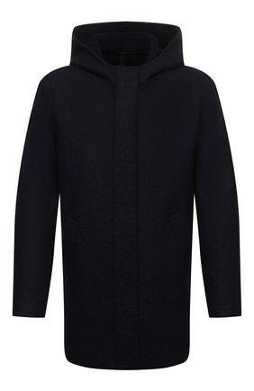 Мужская шерстяная парка HARRIS WHARF LONDON темно-синего цвета, арт. C9138MLK-W | Фото 1 (Материал утеплителя: Шерсть; Материал внешний: Шерсть; Кросс-КТ: Куртка; Длина (верхняя одежда): До середины бедра; Рукава: Длинные; Стили: Кэжуэл)