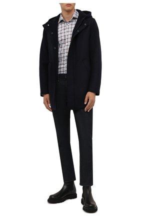Мужская шерстяная парка HARRIS WHARF LONDON темно-синего цвета, арт. C9138MLK-W | Фото 2 (Материал утеплителя: Шерсть; Материал внешний: Шерсть; Кросс-КТ: Куртка; Длина (верхняя одежда): До середины бедра; Рукава: Длинные; Стили: Кэжуэл)