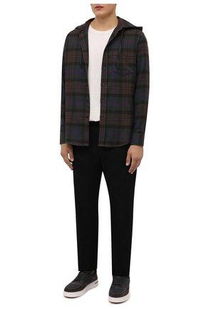 Мужские комбинированные кеды newport knitted walk LORO PIANA темно-коричневого цвета, арт. FAL7953 | Фото 2 (Материал внутренний: Текстиль, Натуральная кожа; Подошва: Массивная; Материал внешний: Текстиль)