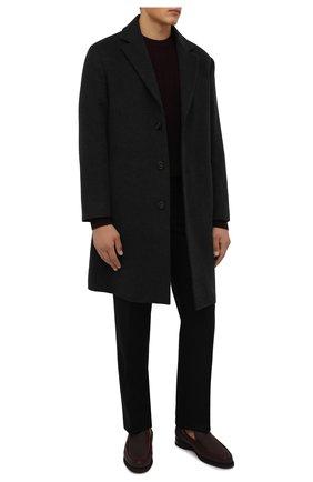Мужские кожаные лоферы ZILLI бордового цвета, арт. MDW-M047/0B3 | Фото 2 (Материал внутренний: Текстиль; Стили: Кэжуэл)