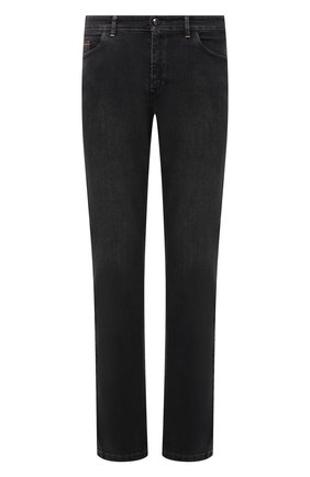 Мужские джинсы ZILLI темно-серого цвета, арт. MCW-00081-DBLK1/R001 | Фото 1 (Длина (брюки, джинсы): Стандартные; Материал внешний: Хлопок; Кросс-КТ: Деним; Силуэт М (брюки): Прямые; Стили: Кэжуэл)