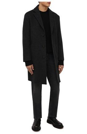 Мужские джинсы ZILLI темно-серого цвета, арт. MCW-00081-DBLK1/R001 | Фото 2 (Длина (брюки, джинсы): Стандартные; Материал внешний: Хлопок; Кросс-КТ: Деним; Силуэт М (брюки): Прямые; Стили: Кэжуэл)