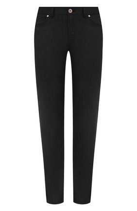 Мужские брюки из шерсти и хлопка BRIONI темно-серого цвета, арт. SPLQ0L/01A4N/CHAM0NIX | Фото 1 (Длина (брюки, джинсы): Стандартные; Материал внешний: Шерсть, Хлопок; Случай: Повседневный; Стили: Кэжуэл)