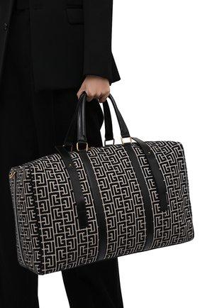 Женская спортивная сумка b-army BALMAIN черно-белого цвета, арт. WM1EC155/TJGS   Фото 2 (Ремень/цепочка: На ремешке; Размер: large; Материал: Текстиль; Женское Кросс-КТ: Сумки-спорт)