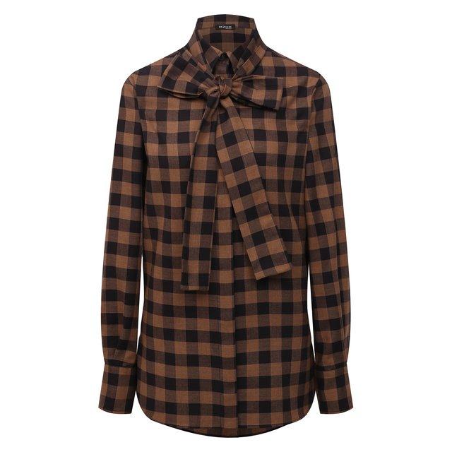 Рубашка из хлопка и шерсти Kiton