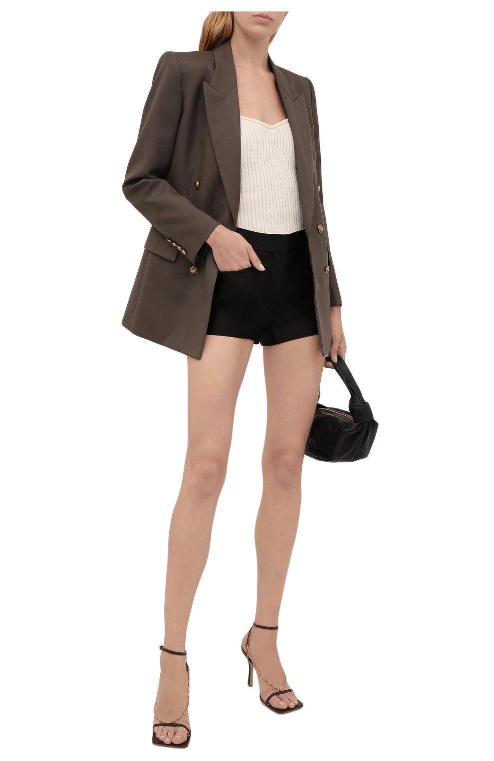 Женские шелковые шорты TOM FORD черного цвета, арт. SH0024-FAX671 | Фото 2 (Женское Кросс-КТ: Шорты-одежда; Материал внешний: Шелк; Стили: Гламурный; Длина Ж (юбки, платья, шорты): Мини)