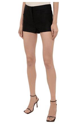 Женские шелковые шорты TOM FORD черного цвета, арт. SH0024-FAX671 | Фото 3 (Женское Кросс-КТ: Шорты-одежда; Материал внешний: Шелк; Стили: Гламурный; Длина Ж (юбки, платья, шорты): Мини)
