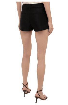 Женские шелковые шорты TOM FORD черного цвета, арт. SH0024-FAX671 | Фото 4 (Женское Кросс-КТ: Шорты-одежда; Материал внешний: Шелк; Стили: Гламурный; Длина Ж (юбки, платья, шорты): Мини)