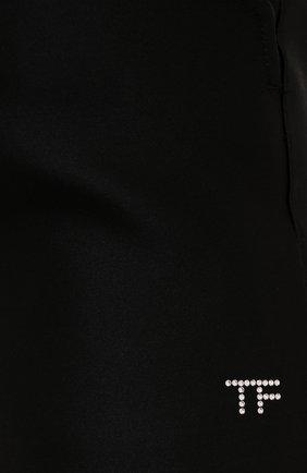 Женские шелковые шорты TOM FORD черного цвета, арт. SH0024-FAX671 | Фото 5 (Женское Кросс-КТ: Шорты-одежда; Материал внешний: Шелк; Стили: Гламурный; Длина Ж (юбки, платья, шорты): Мини)