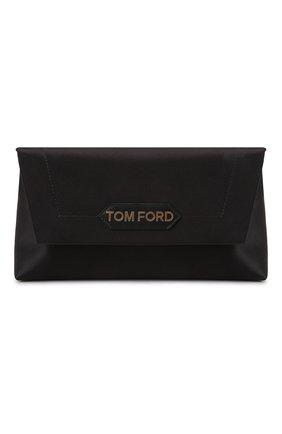 Женская сумка label small TOM FORD черного цвета, арт. L1504T-TSA005 | Фото 1 (Размер: small; Материал: Текстиль; Сумки-технические: Сумки top-handle)