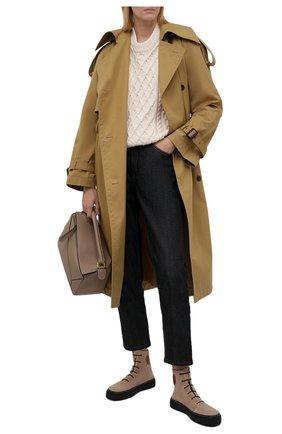 Женские замшевые ботинки RALPH LAUREN бежевого цвета, арт. 800850304 | Фото 2 (Материал внутренний: Натуральная кожа; Подошва: Платформа; Материал внешний: Замша)