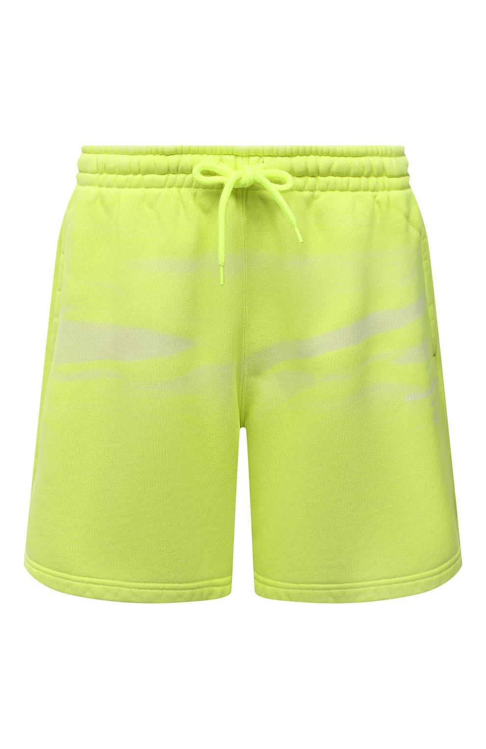 Женские хлопковые шорты ALEXANDER WANG светло-зеленого цвета, арт. UCC3214017 | Фото 1 (Женское Кросс-КТ: Шорты-одежда; Длина Ж (юбки, платья, шорты): Мини; Материал внешний: Хлопок; Стили: Спорт-шик)