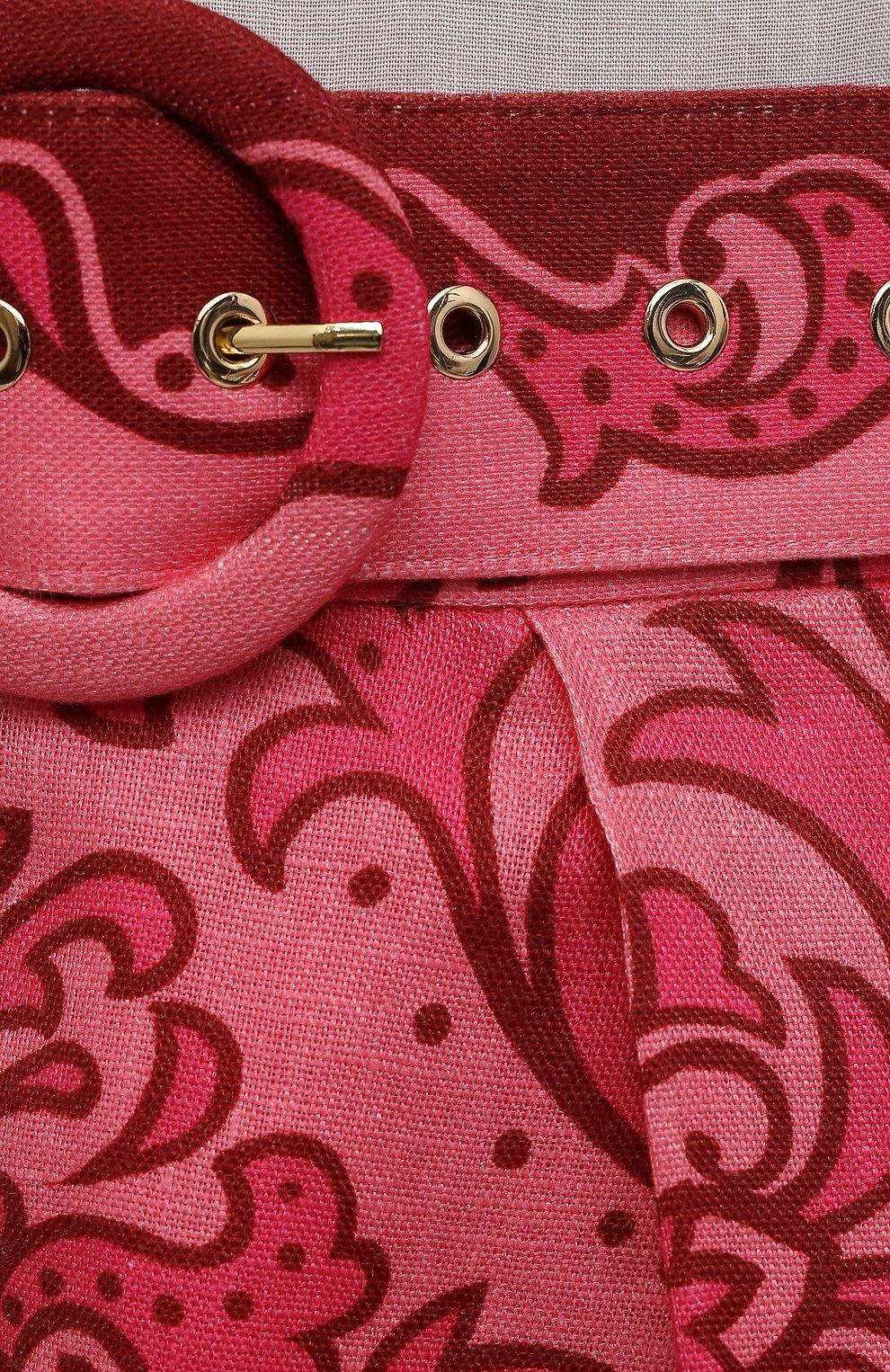 Женские льняные шорты ZIMMERMANN розового цвета, арт. 1519ANIN   Фото 5 (Длина Ж (юбки, платья, шорты): Мини; Материал внешний: Лен; Стили: Минимализм; Материал подклада: Хлопок)