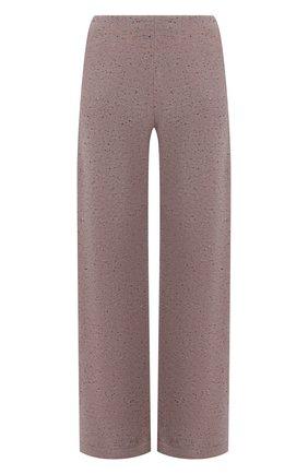 Женские кашемировые брюки LORO PIANA темно-розового цвета, арт. FAL8590 | Фото 1 (Длина (брюки, джинсы): Стандартные; Материал внешний: Кашемир, Шерсть; Женское Кросс-КТ: Брюки-одежда; Кросс-КТ: Трикотаж; Стили: Кэжуэл)