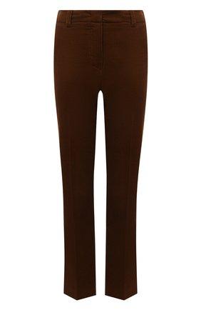 Женские вельветовые брюки LORO PIANA коричневого цвета, арт. FAL9461 | Фото 1 (Материал внешний: Хлопок; Длина (брюки, джинсы): Стандартные; Женское Кросс-КТ: Брюки-одежда; Стили: Кэжуэл)