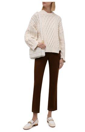 Женские вельветовые брюки LORO PIANA коричневого цвета, арт. FAL9461 | Фото 2 (Материал внешний: Хлопок; Длина (брюки, джинсы): Стандартные; Женское Кросс-КТ: Брюки-одежда; Стили: Кэжуэл)