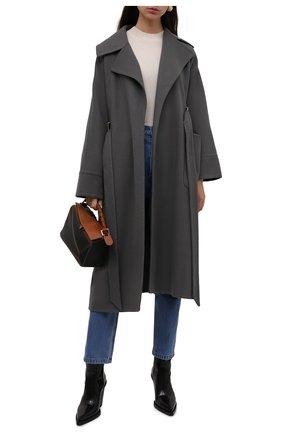 Пальто из шерсти шелка   Фото №2