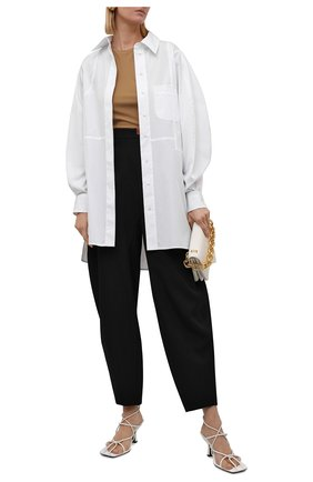 Женские шерстяные брюки LOEWE черного цвета, арт. S540Y04X57   Фото 2 (Материал внешний: Шерсть; Длина (брюки, джинсы): Стандартные; Женское Кросс-КТ: Брюки-одежда; Стили: Минимализм)