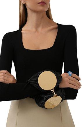 Женская сумка bracelet LOEWE черного цвета, арт. C912P84X02 | Фото 2 (Материал: Натуральная кожа; Сумки-технические: Сумки top-handle; Размер: small)