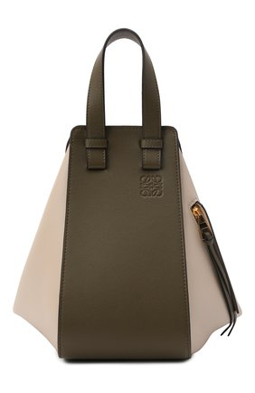 Женская сумка hammock small LOEWE зеленого цвета, арт. A538S35X19 | Фото 1 (Ремень/цепочка: На ремешке; Материал: Натуральная кожа; Размер: small; Сумки-технические: Сумки top-handle)