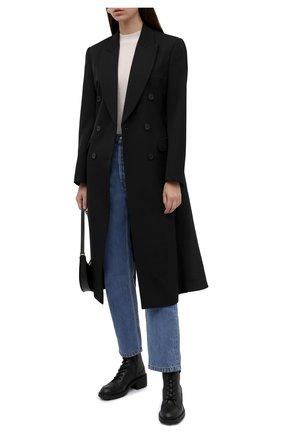 Женские кожаные ботинки darryl CHLOÉ черного цвета, арт. CHC21A48193   Фото 2 (Подошва: Платформа; Материал внутренний: Натуральная кожа; Каблук высота: Низкий)