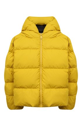 Детская пуховая куртка BACON YOUNG желтого цвета, арт. BKW1/BACPIGIA184/NEW CL0UD   Фото 1 (Материал подклада: Синтетический материал; Материал утеплителя: Пух и перо; Материал внешний: Синтетический материал; Рукава: Длинные; Девочки Кросс-КТ: Пуховик-верхняя одежда; Кросс-КТ: Сезон: зима)