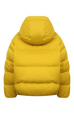 Детская пуховая куртка BACON YOUNG желтого цвета, арт. BKW1/BACPIGIA184/NEW CL0UD   Фото 2 (Материал подклада: Синтетический материал; Материал утеплителя: Пух и перо; Материал внешний: Синтетический материал; Рукава: Длинные; Девочки Кросс-КТ: Пуховик-верхняя одежда; Кросс-КТ: Сезон: зима)