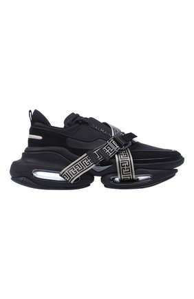 Мужские кроссовки b-bold BALMAIN черного цвета, арт. WM0VI278TCMG/ | Фото 1 (Материал внешний: Текстиль; Стили: Гранж)