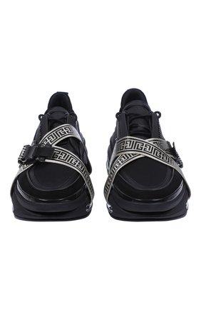 Мужские кроссовки b-bold BALMAIN черного цвета, арт. WM0VI278TCMG/ | Фото 2 (Материал внешний: Текстиль; Стили: Гранж)