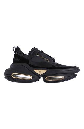Женские кожаные кроссовки b-bold BALMAIN черного цвета, арт. WN0VI541/LSLD   Фото 1 (Материал внутренний: Натуральная кожа; Подошва: Массивная)