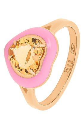 Женское кольцо MOONKA розового цвета, арт. crg-r-ctr   Фото 1 (Материал: Серебро)