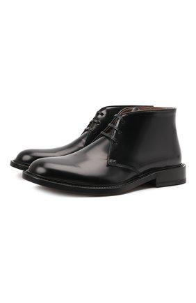 Мужские кожаные ботинки level BOTTEGA VENETA черного цвета, арт. 651317/V10T0 | Фото 1 (Материал внутренний: Натуральная кожа; Подошва: Плоская; Мужское Кросс-КТ: Ботинки-обувь, Дезерты-обувь)